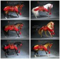 Mr.Z - 048 - 1/6 Scale Animal Model - Akhal Teke Horses + Ancient Japan Harness (6 Colors)