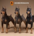 MR.Z - Real Animal Series No.10 - 1/6 Scale German Doberman Statue ( 3 Colors  )