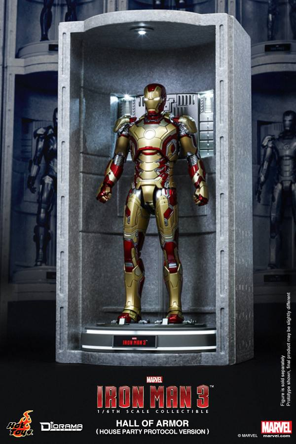 Hot Toys – DS002 – Iron Man 3: 1/6th scale Hall of Armor (House