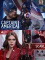 Hot Toys Movie Promo Edition - MMS357+MMS360 - Scarlet Witch ( New Avengers Version ) & Captain America ( Civil War Battling Version )