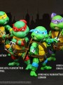 Herocross - HMF#037-040 Teenage Mutant NinjaTurtle Set + HXP#001 Finger Skateboard