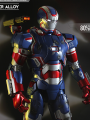 Play Imaginative - Super Alloy - Iron Patriot - 1/4 Die Cast Figure