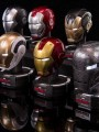 King Arts - Deluxe Helmet Series DHS-S6 - Iron Man 3 - 1/5th Scale Series 6 (Set of 8)