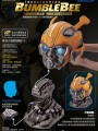 Killerbody - 1/1 Scale Bumblebee Lifesize Helmet (Deluxe Version With Remote and Display Stand)