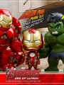 Hot Toys - Cosbaby Series 1.5 - Avengers Age Of Ultron - cosb 176 + 177 - Set of 3 - hulk + hulkbuster + Mark 43
