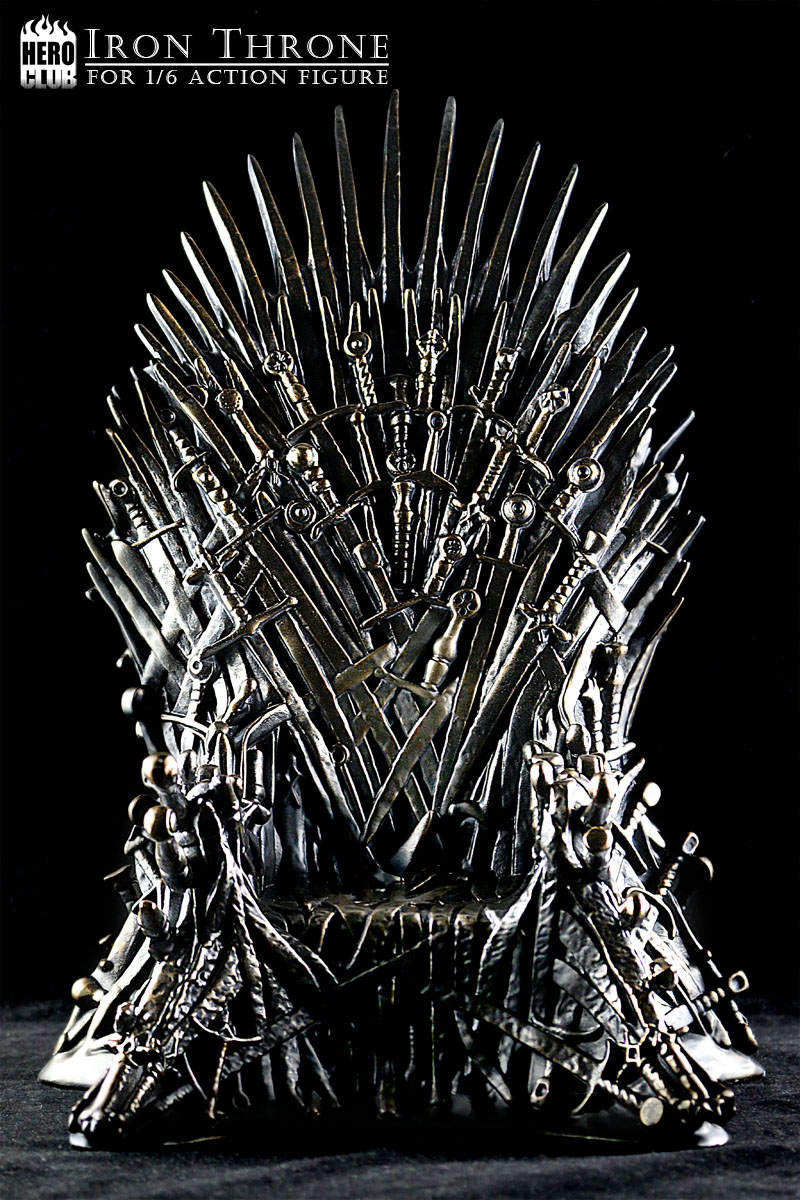 Hero club 1 6 iron throne games of thrones the for Buy iron throne chair