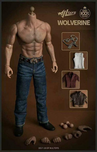 WJL Toys 1/6 1/6 1/6 Scale Wolverine Original Costume Set With Worldbox 27b139